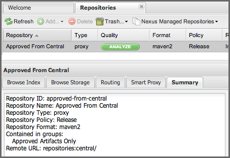 Repository Management with Nexus 215 / 405 tains proxy as shown in Figure 10.8.