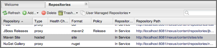 Repository Management with Nexus 325 / 405 Figure 17.