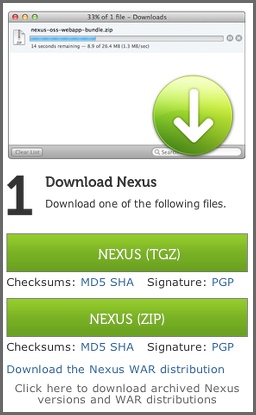 Repository Management with Nexus 29 / 405 3.2.1 Downloading Nexus Open Source To download the latest Nexus Open Source distribution, go to http://www.sonatype.