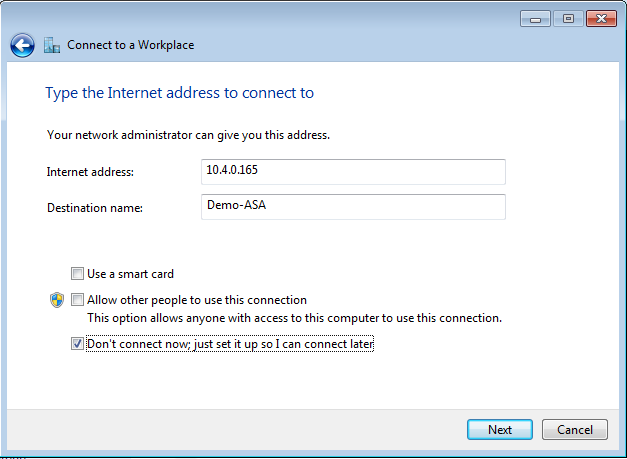 Select SSL-Demo and click Edit. Aliases: SSL-Demo. Click OK. Check Allow user to select connection profile, identified by its alias, on the login page.