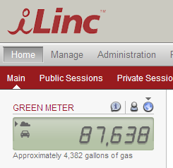 Edit Password Reading the ilinc Green Meter ilinc Communications promotes an environmental (i.e. green ) agenda that encourages meeting online, rather than using natural resources for travel.