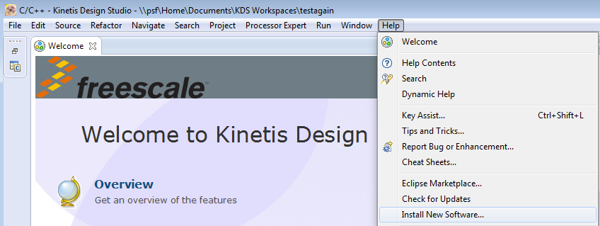 5 Run a demo using Kinetis Design Studio IDE This section describes the steps required to configure Kinetis Design Studio (KDS) IDE to build, run, and debug demo applications and the necessary
