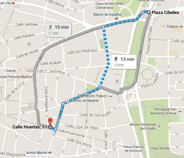 Important Information: If you want to leave after 1:30, you ll have to go back to Moncloa metro station, but take the