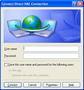 Figure 15: Connect Screen The Connection Properties screen