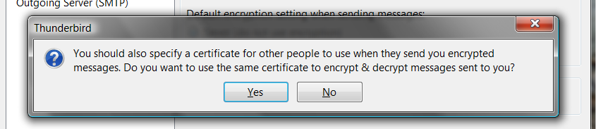 Using Step eleven Back in the Account Settings>Security window, click Select under Digital Signing. 13 of 13 This will allow you to select your newly imported certificate to sign and encrypt emails.