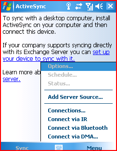 ActiveSync Configuration Note: While the following procedure is intended for Microsoft Windows Mobile devices, the same configuration settings apply to palm Treo