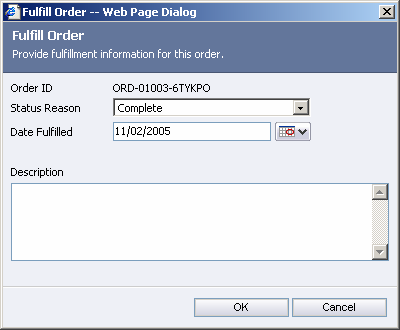 Implementing Microsoft CRM 3.0 Small Business Edition 5. The Status Reason defaults to Won. Click OK on the Create Order window. FIGURE 5 9: CREATE ORDER 6.