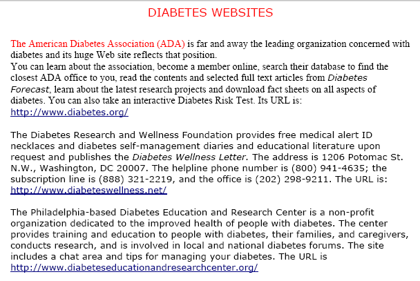 Example PPC 9C: Diabetes Education