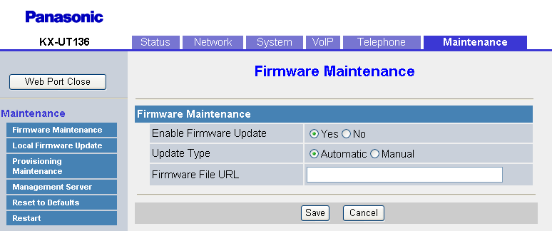 "4.7.1 Firmware Maintenance Max. 127 characters (except "", &, ', :, <, >, and space) Not stored."