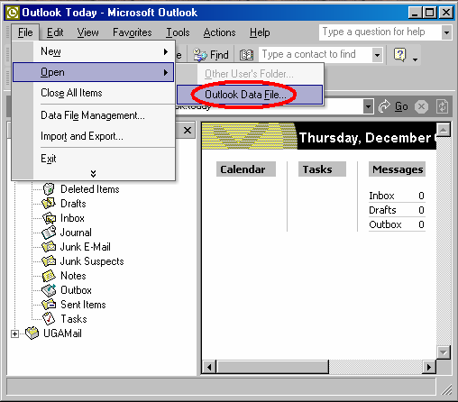 6. Select a unique Personal Folder name for the copy, so you'll be able to recognize it when you open it in Outlook; for example, Backup Copy, and click OK. 7. A progress box will open.