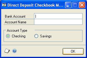 CHAPTER 23 PAYROLL DIRECT DEPOSIT SETUP Entering auto-settle line information The auto-settle line is an optional line of information added to some ACH files generated by Direct Deposit to bring the