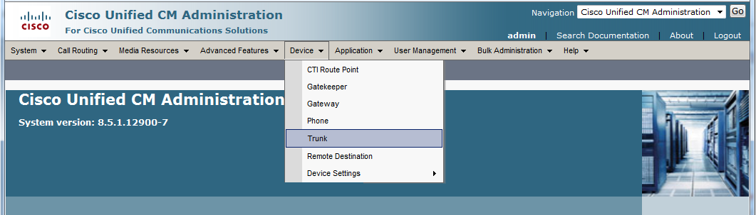 3. On the SIP Trunk Security Profile Configuration screen, enter the appropriate values for the trunk. For Valcom devices, the Outgoing Transport Type must be UDP.