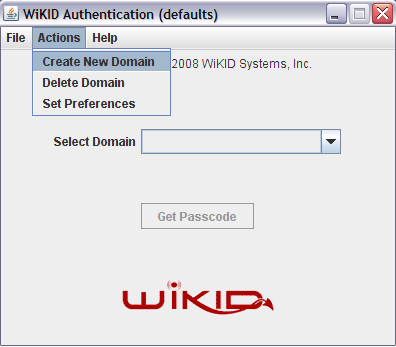 10) Enter the 12-digit Server Code for the Domain. This is the zero-padded Domain Identifier or IP address that you have entered when you created the domain on the WiKID server (step #4).