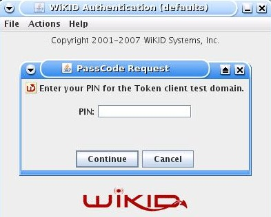17) In the example below, we are showing a user using a WiKID Token Client to gain access to the SSL312 network.