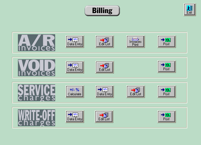 Calculating Service Charges Navigate to Transactions>Billing>Service