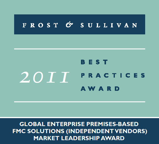 The Market Leading FMC/UC Solutions The Frost & Sullivan Award for Market Leadership is presented to Comdasys which has demonstrated excellence in capturing the highest market