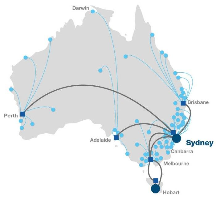 Domestic Voice Network Largest VoIP Network in Australia.