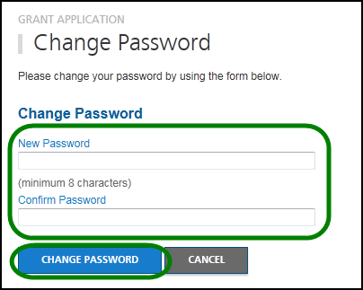 Once in the Change Password tool, enter a new password and repeat the password in the Confirm Password field.