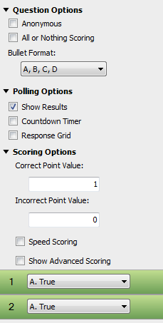TurningPoint Cloud 30 Matching Matching questions may have up to 10 answer choices. To set up a matching question, a list of matches is paired with a list of choices.