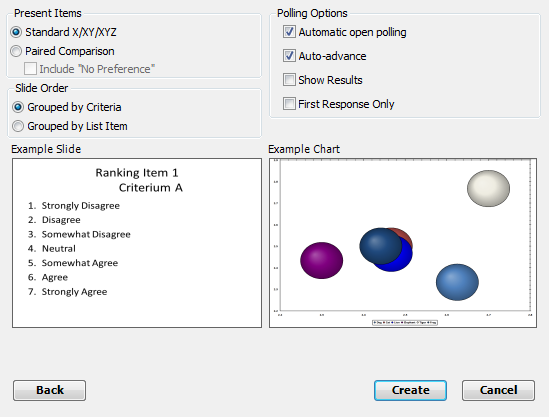 TurningPoint Cloud 93 7 Select an option for Present Items. Only one item may be selected.