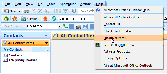 5.2 Toolbar Not Visible in Outlook If the Toolbar is not visible in Outlook, follow these steps. If the problem is not solved, contact your service provider.