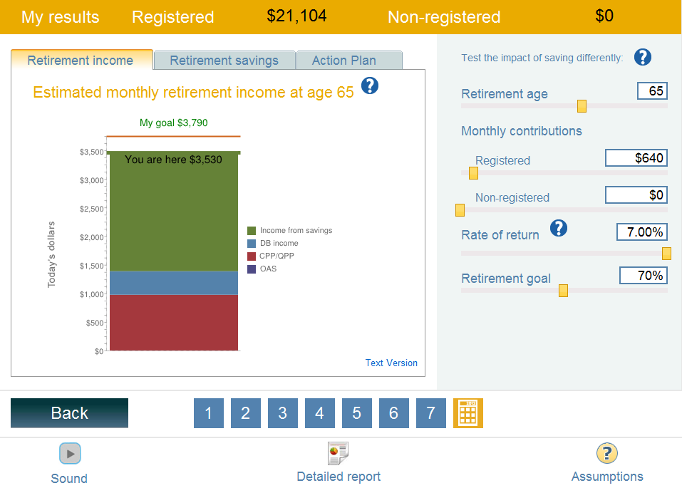 my money Retirement Planner Determine how much you need to save now to provide you with your desired income level in retirement Adjust a number