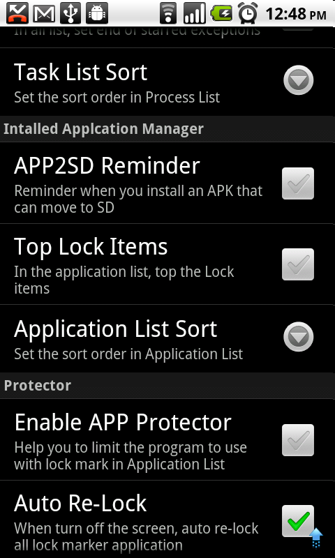 APK Manager (10) Settings for APK Manager APP2SD Reminder You will get a notification if