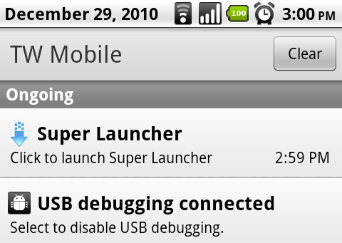 Super Launcher (4) System Notification Tray