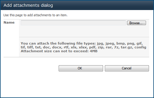 Attachments List f attached files, links t deleted attachments.