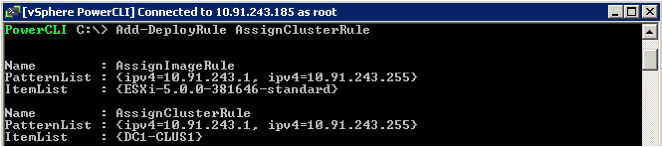 Create a vcenter Folder/Cluster Rule As mentioned earlier, Auto Deploy can optionally place the ESXi host into a vcenter folder or cluster.