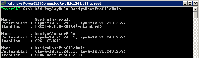 Figure 19. Get-VMHostProfile In the preceding example, there is a single host profile ADS-Host-Profile-1.