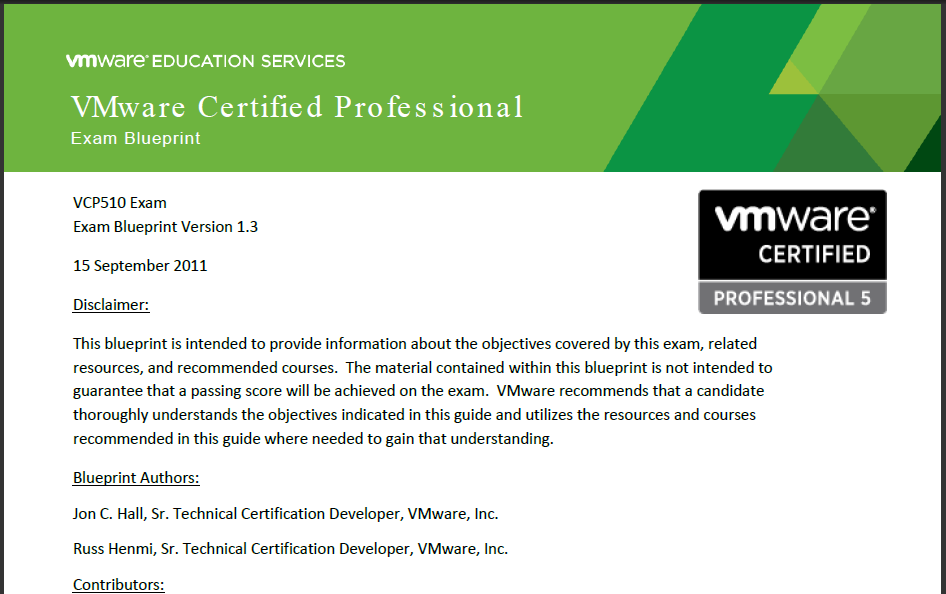 VCP - FAQ VMware Ed has a VCP mock exam on their website (it