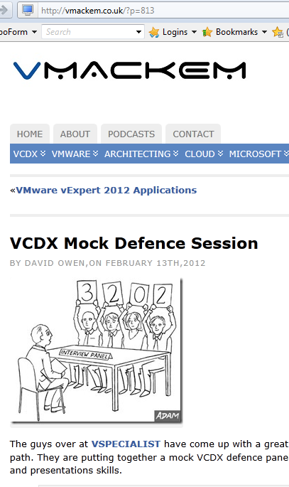 VCDX - Preparation Tips Overview It s about knowing your DESIGN VCAP DCA and DCD are prerequisites for VCDX5 You create a design of a fictitious customer, diagram it, document it Submit it Defend