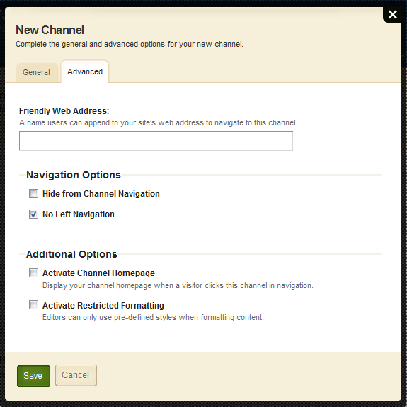 Site Administrator Guide Blackboard Schoolwires Adding Channels to your Site Here s how you assign channels to your site. 1. Select the Channels tab in your Site workspace. 2.