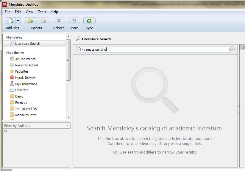 2.4 Literature Search in Mendeley Crowd-sourced online research catalogue You can use the literature search bar in Mendeley. Which database are you using with this search option?