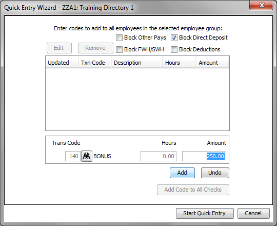 The final step of the wizard is where you can select some specific check settings that you want to apply en mass.