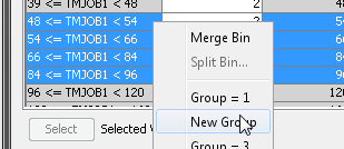 Group the Characteristic Variables into Attributes 13 You can also use the Groupings tab to combine multiple bins within a group.