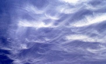 High-Level Clouds Cirrus (Ci): White, delicate, fibrous in appearance.
