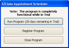 Getting Started Once the program is installed and you are able to open the program, review Your First Appointment on page 7 and work from there.