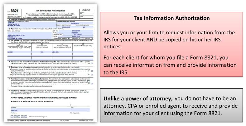 Using Form 8821 Provide Year Round Tax Support For Your Clients Pdf