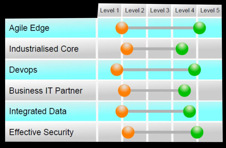 Hybrid IT Maturity Model Use the maturity model