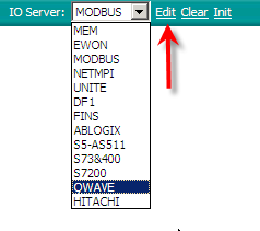 5. Create Tags and monitor values To configure the IO Server select the desired IO server in the list box and click on the Edit button just next the IO Server.