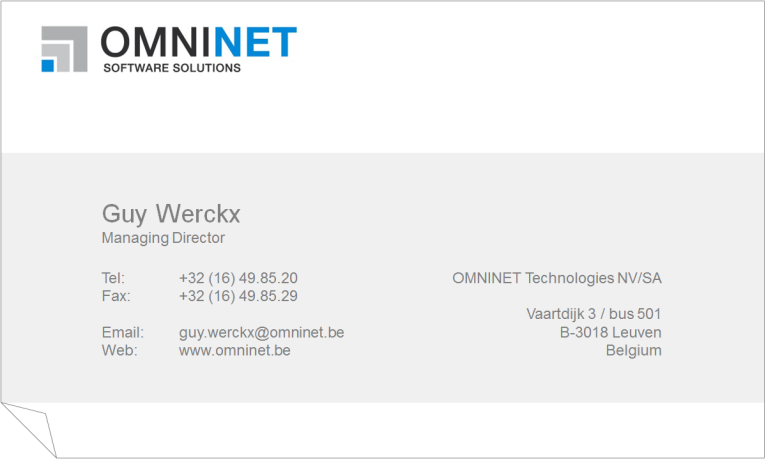 OMNINET Facts and Figures: German based Software Company >15 years