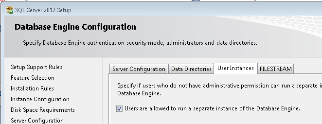 This section/page (4.10.1) applies to installation types I1) Single User and I2) Small Businesses only. 4.10.1.1) Please keep the default option of Windows authentication mode ticked.