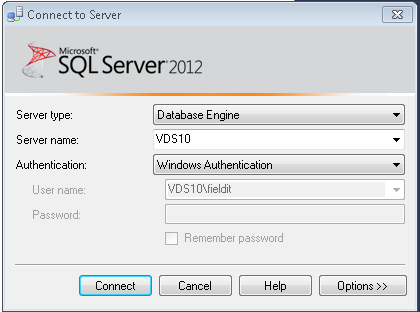 9.2) You must now override the default server name.\sqlexpress to the PC/Server name.