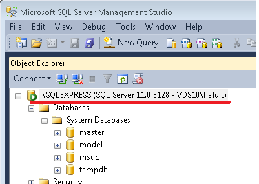 9.3) Right click on the SQL Server, top left