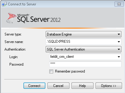 9.16) You now should test this user works, please close SQL Server Management Studio and re-open.