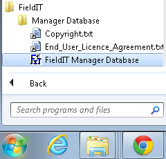 10.6) Open the application by clicking on the FieldIT Manager