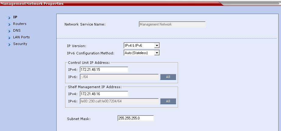 Integrate Polycom RMX Systems with UNIFY OpenScape The IP Network Services screen displays, shown next.