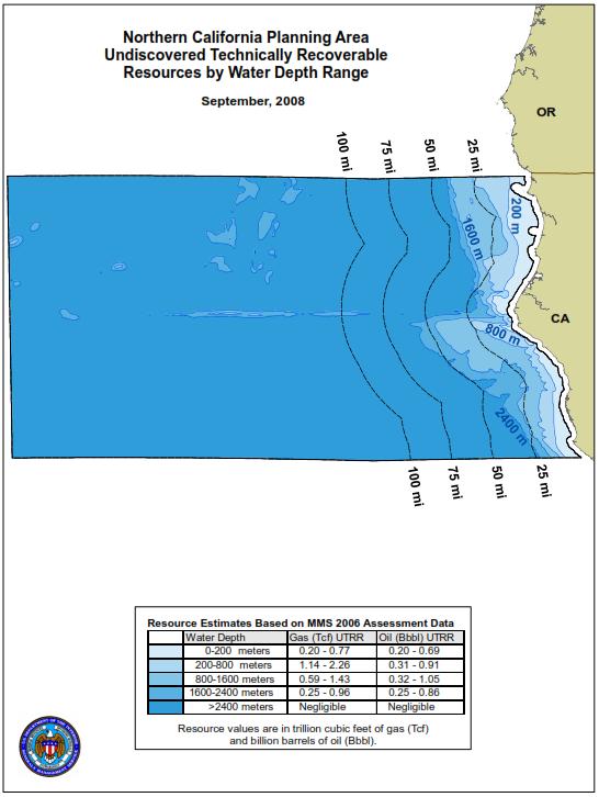 Figure 40: Northern California Planning Area Source: BOEM *Resources mentioned in